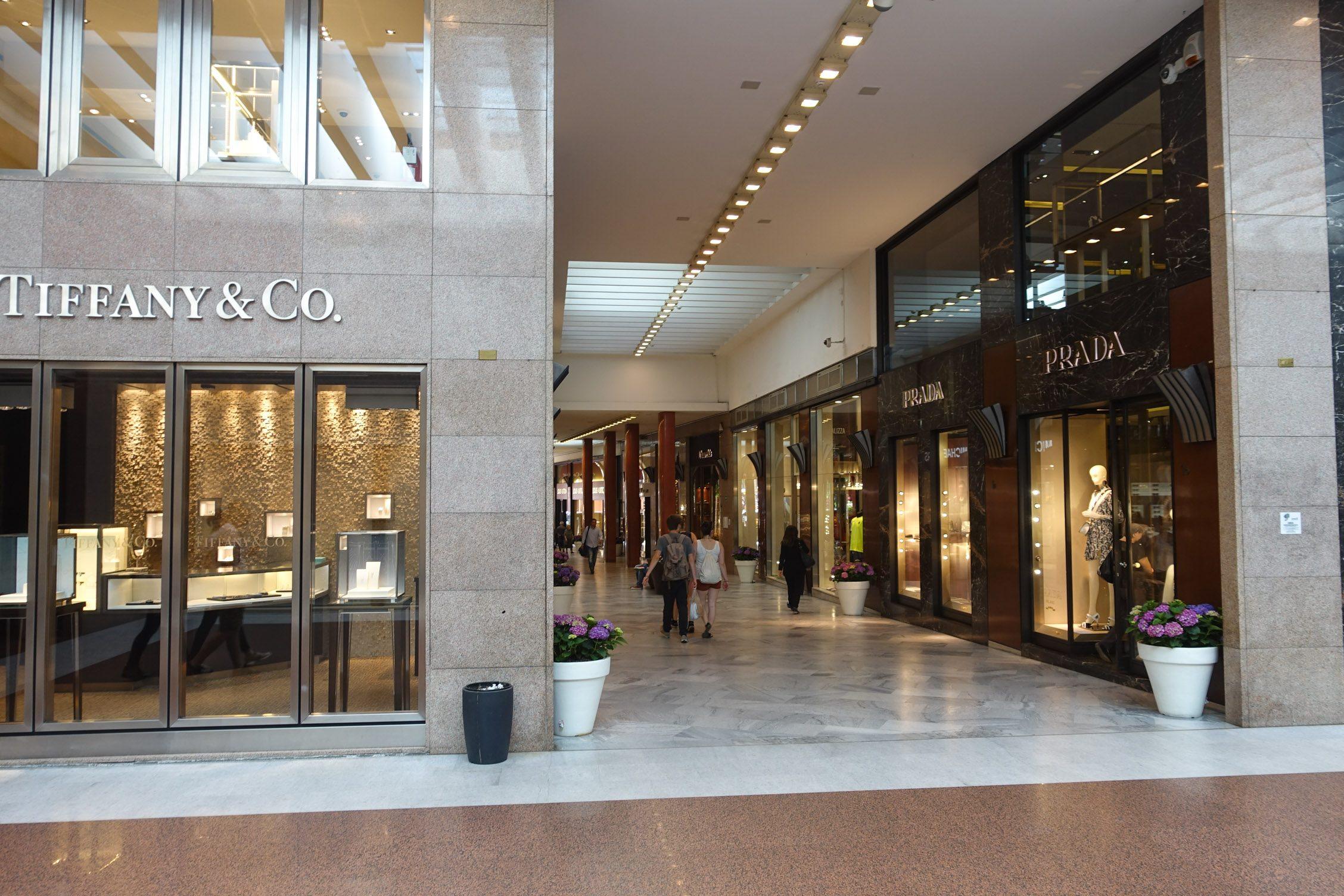 exclusief shoppen in de Galleria Cavour