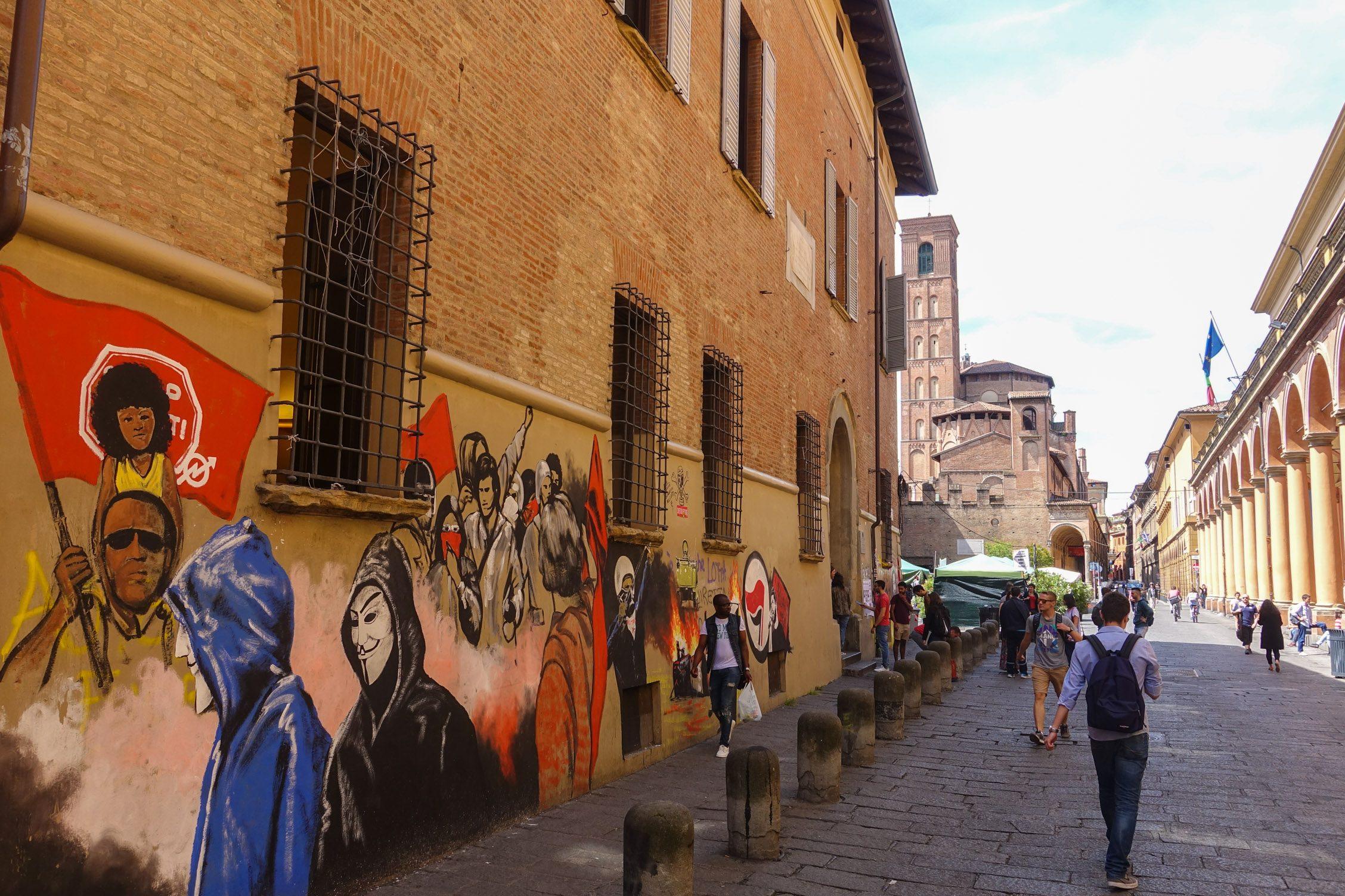 prachtig staaltje graffiti in de universiteitswijk