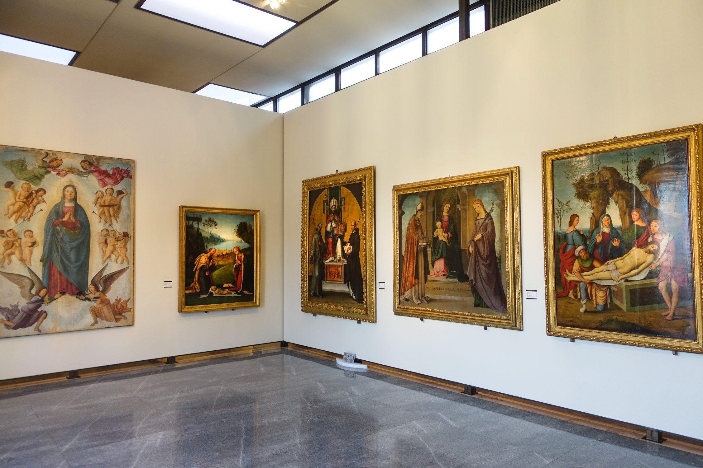 een kijkje in de Pinacoteca