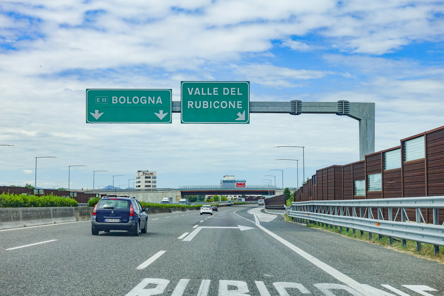 Met de auto naar Bologna